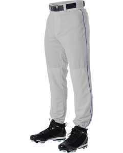 Elastic Bottom Baseball Pants with Braid