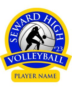 2018 Volleyball Cling